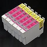 むさしのメディア EPSON(エプソン) ICM50 (6個セット) 互換インクカートリッジ ICチップ付き 残量表示対応