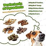 6er mix pack Hundeleckerli Hunde Snack Kausnacks hund 100% natural top mit dental sticks hundefutter | Dörrfleisch Rinderohren Büffelstrossen Kaninchenohren RINDERLUNGE Rinderstrossen Trockenfisch