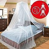 GloryTec Moustiquaire avec fermeture à glissière bidirectionnelle pour lit double et simple - Plus Sac de Voyage - Moustiquaire XXL Protège efficacement contre les insectes et les moustiques