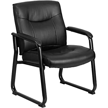 Flash Furniture Black Leather Side Chair