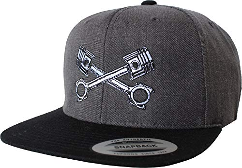 Tuner Cap: Kolben - Baseball Cap-s Baseballkappe für Motor-Sport Freunde - Basecap Auto Motorrad Biker Mechaniker Schrauber - Kappe Mütze Geschenk Tuning Rennsport Garage (One Size Grey)