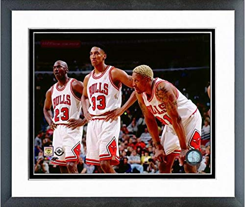 Michael Jordan Chicago Bulls NBA Double Matted 8x10 Photograph Dunking Red Jersey vs Orlando Magic
