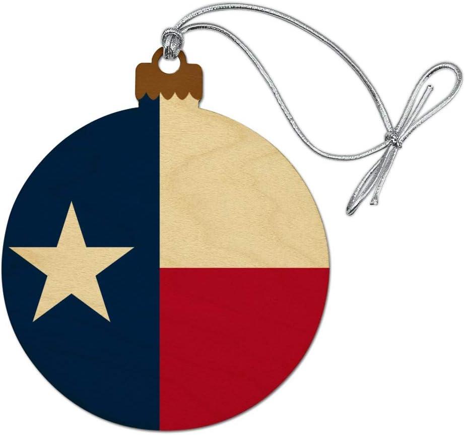 GRAPHICS & MORE Texas State Flag Wood Christmas Tree Holiday Ornament