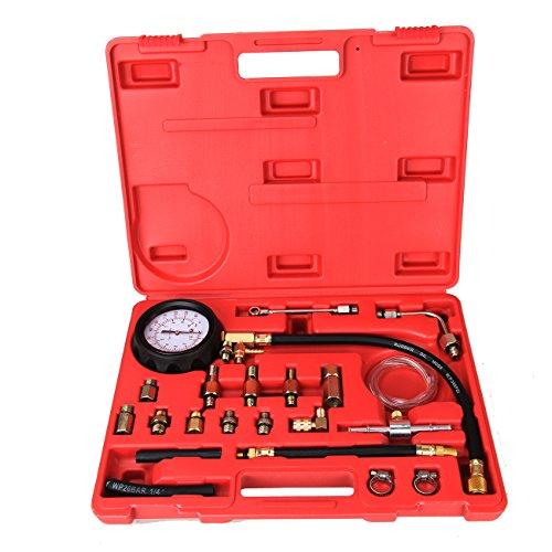 Best Deals! Ambienceo 140 PSI 10 Bar Fuel Injection Pump Pressure Tester Gauge Compression Test Tool...