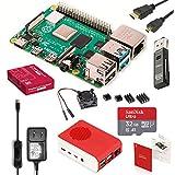 Raspberry Pi 4 Model B Starter Kit Pro/ラズベリーパイ4B(4GB RAM)技適マーク付/MicroSDHCカード32GB NOOBSプリインストール/1つのプレミアムケース/4つのヒートシンクセットと1つの冷却ファン/5.1V3A USB-C電源アダプタ ON/OFFスイッチ付き/2つのMicroHDMI-to-HDMIケーブルライン/カードリーダ/日本語取扱説明書/3年保証付
