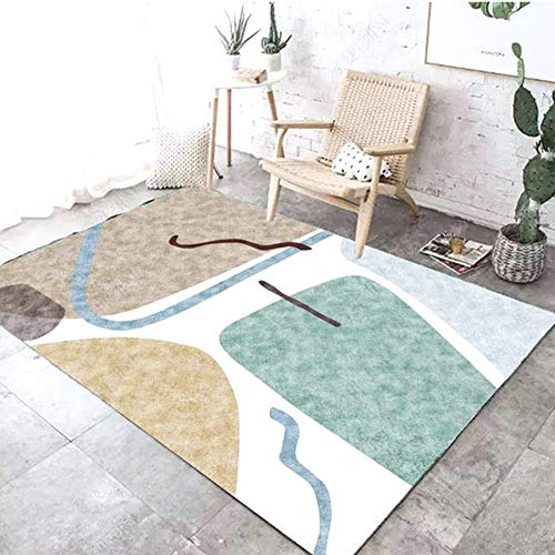 Yangyang Area RugLiving Room Coffee Table Carpet Sofa Cushion Blanket Bedroom Bedside Carpet Cushion Mat Mite-Free Craft Machine Washable Soft Area Rug,MLD06,140x200cm