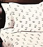 Peanuts Gang Many Moods of Snoopy 4 pc. Queen Sheet Set in Black & White by Berkshire Blanket & Home Co.