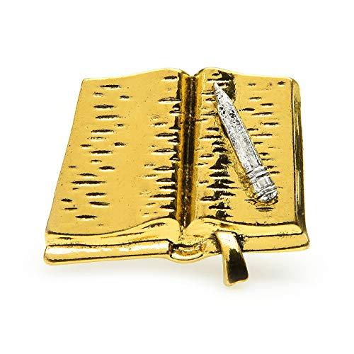 CLEARNICE Vintage Stift Und Buch Broschen Für Frauen Metall Notebook Stationäre Brosche Pins Geschenke