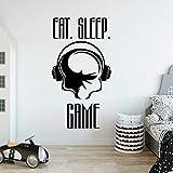 LKJHGU Giochi Mangia Sonno Giochi Giocatori Adesivi murali in Vinile Giocatori Sweet Dreams Stickers murali Luna e Stelle Cameretta dei Bambini