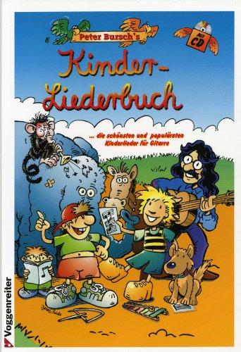 Kinderliedenboek - gearrangeerd voor gitaar - met tabulator - met CD [Noten / Sheetmusic] Component: BURSCH PETER