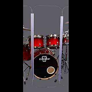 Single Acrylic Drum Shield Panel with Hinge (2ft X 5ft Tall with Living Hinge)