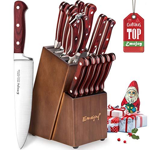 Cuchillo de cocina, Juego de cuchillos de acero inoxidable Alemán Importado, 15...
