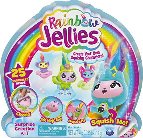 Rainbow Jellies, Creation Kit with 25 Surprises to Make Your Own Squishy Characters, for Kids Aged 6 and up