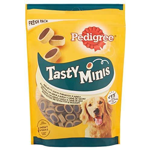 Pedigree Snacks Tasty Mini para Educar a Tu Perro, Sabor Queso y Buey, 140g ✅