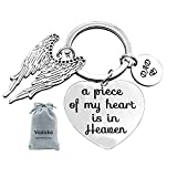 Memorial Jewelry Gift A Piece of My Heart is in Heaven Keychain Dad Memorial Keychain Keyring Gift Sympathy Jewelry