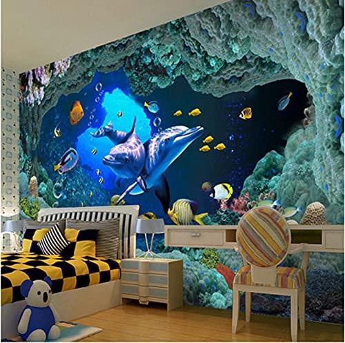 Newberli Foto 3D Personalizada Mundo Submarino Sala De Niños Sofá Tv Fondo Mural Papel Tapiz Arte De Pared Para Sala De Estar Para Decoración De Dormitorios