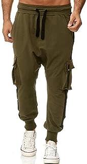 Yisism Mens Pants Jogger Athletic Workout Sport Yoga Elastic Waist Pants Sweatpants
