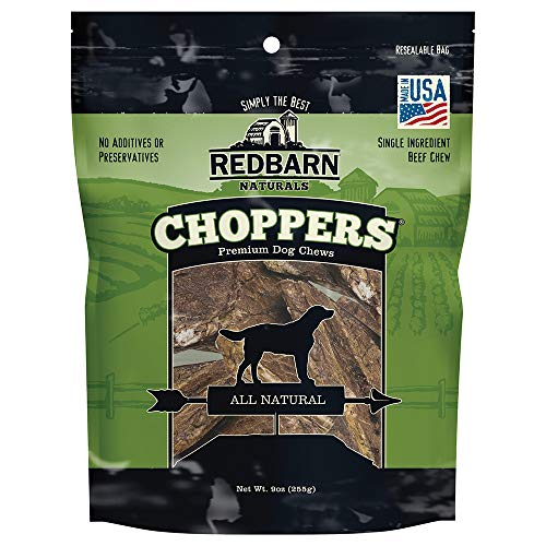 Redbarn Beef Lung Choppers Dog Chew | All-Natural high-Protein Low-Fat Grain-Free, Highly Palatable Treats sourced from Free-Range, Grass-Fed Cattle (Pack of 2)