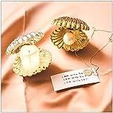 Creative Shell forma plástico plato joyería almacenamiento bandeja exhibición placa anillo pendientes decoración organizador un conjunto de 2 (plata+dorado)