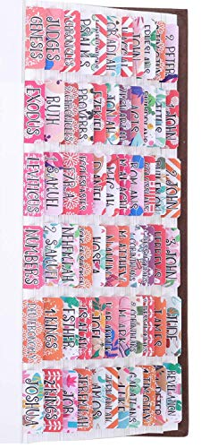 Laminated Bible Tabs Additional 24 Blank tabs Personalized Bible Tabs for Women and Girl 66 Bible tabs for Old and New Testament 90 Bible Index tabs in Total Bible Journaling Supplies
