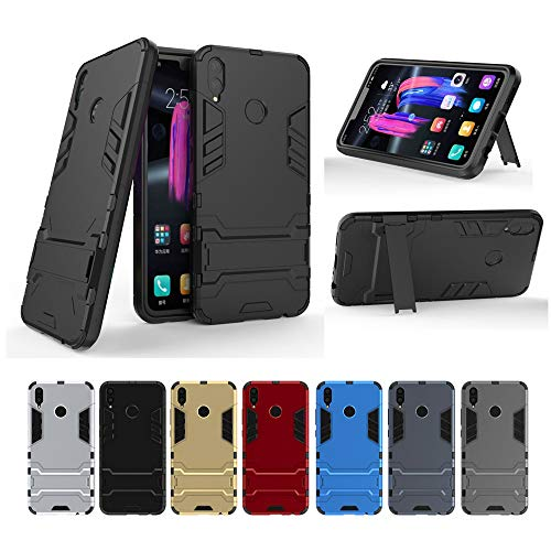 Huawei Honor 8X Hülle, MHHQ Hybrid 2in1 TPU+PC Schutzhülle Rugged Armor Case Cover Dual Layer Bumper Backcover mit Ständer für Huawei Honor 8X -Red - 6