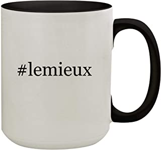 #lemieux - 15oz Hashtag Colored Inner & Handle Ceramic Coffee Mug, Black