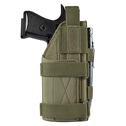 FRTKK Adjustable Tactical Pistol/Gun Holster for 1911, Ruger LCP, S&W M&P 40 Shield Bodyguard, Sig Sauer, Ruger, Kahr, Beretta, Glock 17 19 26 34 (Army Green - Right Hand)
