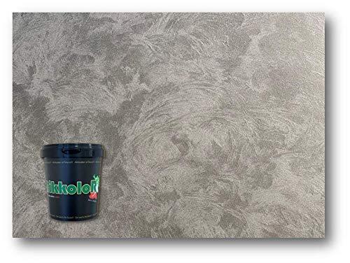 Perla d'Oriente pittura vernice decorativa effetto sabbiato perlato opaco cangiante Nikkolor Made Italy (Silver lt 1)