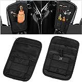 Motorcycle Internal Saddle Bags Organizer Storage Pouch Small Tools HardbagsTools Bags 1 Pair (Black)