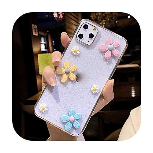Phonecase - Carcasa para iPhone 11 Pro SE 2020 7 8 6 6S Plus X Xr Xs Max transparente Bling Soft TPU