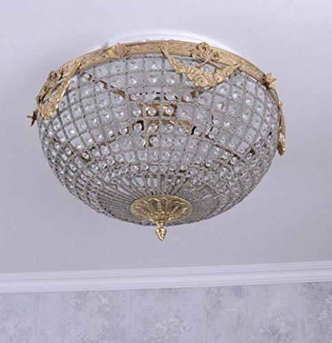 Deckenlüster Kristalle Deckenlampe Deckenleuchte Barock Lampe XL Palazzo Exclusiv