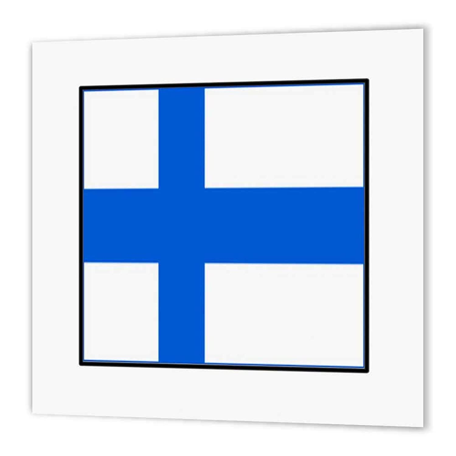 3dRose ht_80959_1 Photo of Finland Flag Button Iron on Heat Transfer Paper for White Material, 8 by 8