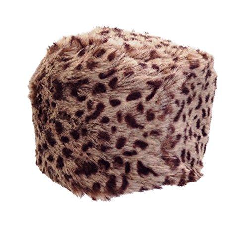 Central Chic Damen-Hut aus Kunstfell im russischen Kosaken-Stil, gut gefütterter und luxuriöser Hut aus Kunstfell, erhältlich in 18Variationen, Gelb