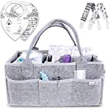 Putska Diaper Caddy Organizer Set: Portable Wipes Holder Bag for Changing Table