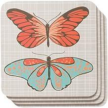 Now Designs Cork Backed Coasters, Flutter, Set of 4