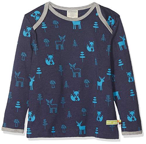 loud + proud loud + proud Kinder-Unisex Shirt Woll-Anteil, Druck Sweatshirt, Blau (Midnight Mi), 92
