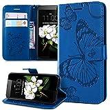 Coque Nokia Lumia 630/635 Etui,Motif lanière papillon 3D gaufrage Relief Housse Étui Coque...
