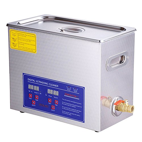 Yescom 6 Liter Stainless Steel Commercial Grade Ultrasonic Cleaner with Digital Timer & Heater for Jewelry Watch Eyeglasses Lens Rings Dental Lab Use