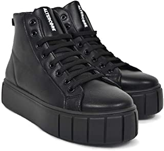 Altercore Felto Chaussures Baskets Sneakers Femme Noir Vegan Plateforme Trainers