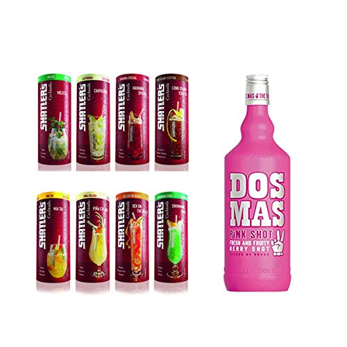 Shatler´s Cocktail Paket (8x0,2l) plus Dos Mas Pink Shot (1x0,7L)