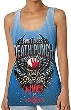 Five Finger Death Punch Women Casual Shirt Sleeveless Tank Top Basic T Shirt XXL Black