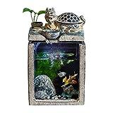 Escritorio Fuente de Agua de Decoración Afortunado chino del dragón de la tortuga de la fuente y de circulación automática del agua del acuario del Ministerio del Interior del paisaje antiguo creativo