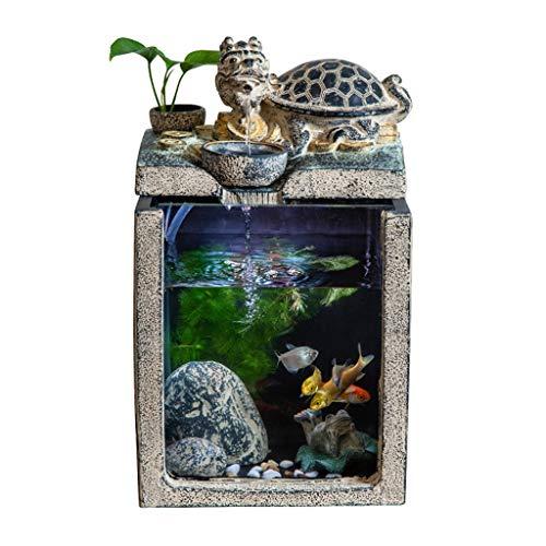 Fuentes de Interior Afortunado chino del dragón de la tortuga de la fuente y de circulación automática del agua del acuario del Ministerio del Interior del paisaje antiguo creativo decoración Amigos r