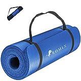 ROMIX Esterilla Yoga Antideslizante, 15MM Alta Densidad Gruesa y Suave...