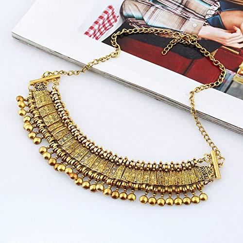 NASHUBIA Marca De Moda Gypsy Collar Gargantilla Collar Colgantes Vintage Punk Étnico Boho Declaración Maxi Collar Mujer Joyería