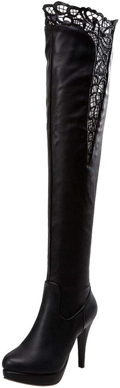 ZHRUI Damenmode dünne Ferse Overknee Stiefel halber Reißverschluss  | Spaß  | Charakteristisch  | Moderater Preis
