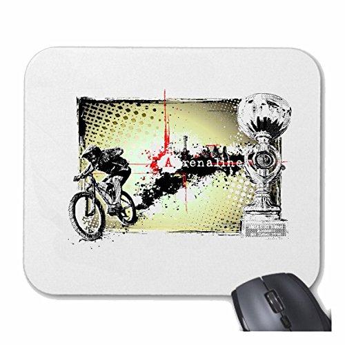 Mousepad (Mauspad) Mountainbike FAHRRADFAHREN Adrenalin Fahrrad Mountainbike FAHRRADREPARATUR RADRENNSPORT FAHRRADTOUR BIKESHIRT Ride für ihren Laptop, Notebook oder Internet PC (mit Win