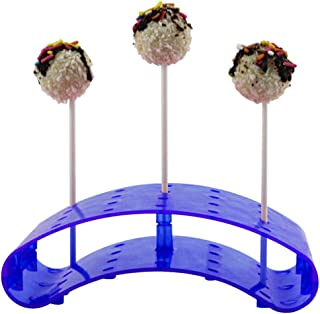 Aland Chocolate Display,S Size 12 Holes Arc Shaped Plastic Chocolate Candy Lollipop Stand Display Holder Blue
