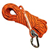Woodland Home Deluxe Magnet Fishing Rope 52 FT(16M) & Oval Connector | 2000LB Factory Rated | 8mm Thick | Premium Fishing Magnet Rope | Durable Strong Quality | Rope | Camping Outdoors