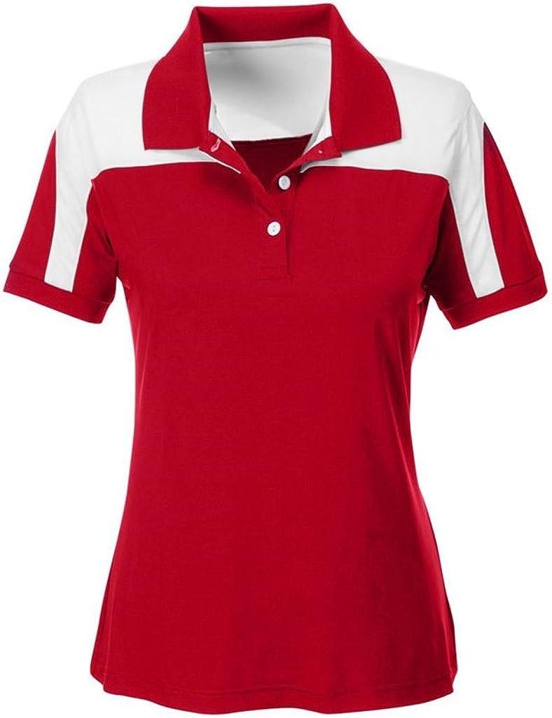 Ash City Apparel Team 365 Ladies Victor Performance Polo (Medium, Sport Red)